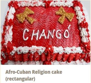 Mary's Dulceria - Cakes 2020 Afro-Cuban Religion cake (rectangular